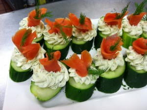 Smoked Salmon Cucumber Rounds